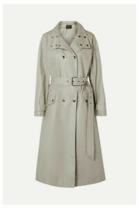 Isabel Marant - Tatiana Double-breasted Coated Cotton-canvas Trench Coat - Mushroom