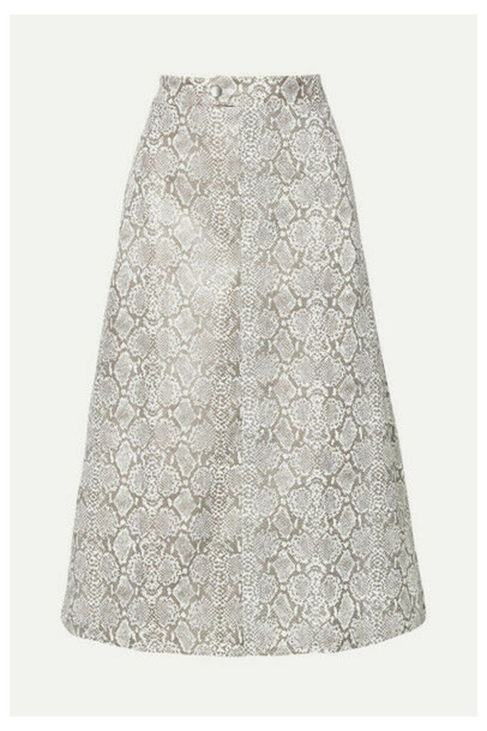Georgia Alice - Snake-effect Faux Leather Midi Skirt - Snake print