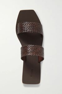 Sacai - Melton Pleated Wool-blend And Satin Midi Skirt - Red