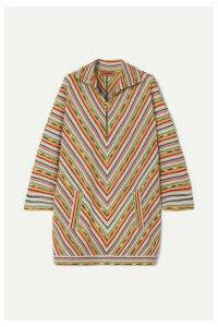 Missoni - Draped Striped Crochet-knit Wool-blend Mini Dress - Light green