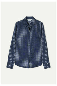 Gabriela Hearst - Henry Polka-dot Silk-twill Blouse - Navy