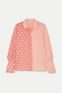 Mother of Pearl - + Net Sustain And Bbc Earth Miles Faux Pearl-embellished Polka-dot Organic Silk Shirt - Pink