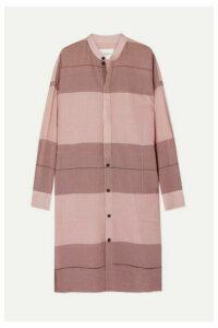 Bassike - + Net Sustain Checked Cotton-gauze Tunic - Pink
