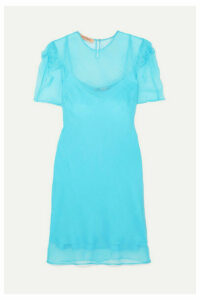 Maggie Marilyn - + Net Sustain Take It Back Knotted Silk-organza Mini Dress - Blue
