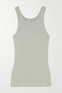 Solid & Striped - Ruffled Smocked Cotton-poplin Mini Dress - Black