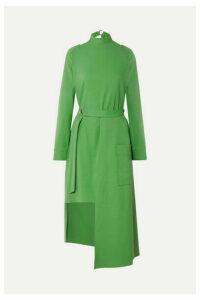 Tibi - Convertible Belted Stretch-jersey Midi Dress - Green