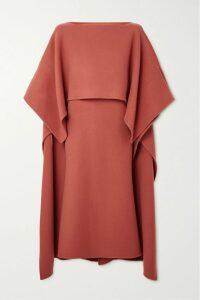 Vetements - Metallic Stretch-knit Turtleneck Mini Dress - Red