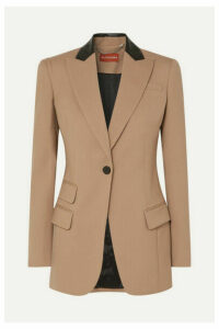 Altuzarra - Leather-trimmed Stretch-wool Blazer - Beige