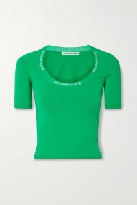 MM6 Maison Margiela - Pleated Checked Woven Midi Skirt - Beige