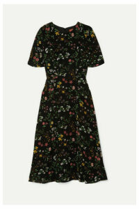 Altuzarra - Sylvia Floral-print Silk Crepe De Chine Midi Dress - Black