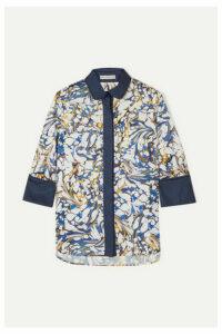 Mary Katrantzou - Rita Printed Twill Shirt - Blue