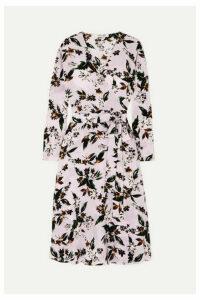 Diane von Furstenberg - Elle Floral-print Silk Crepe De Chine Wrap Dress - Lilac