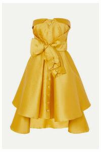 Alexis Mabille - Bow-detailed Satin-twill Mini Dress - Yellow
