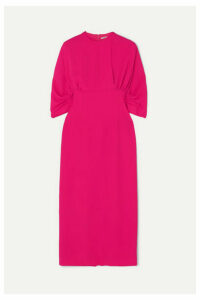 Emilia Wickstead - Helga Cloqué Midi Dress - Fuchsia