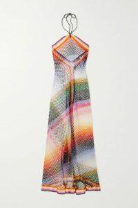 Tibi - Asymmetric Printed Crepe Midi Skirt - White