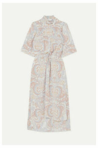 See By Chloé - Printed Silk-georgette Midi Dress - Gray