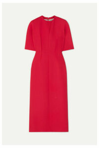 Emilia Wickstead - Trista Wool-crepe Midi Dress - Coral