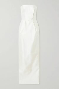 Dundas - Metallic Embellished Floral-print Fil Coupé Silk-blend Chiffon Gown - Red