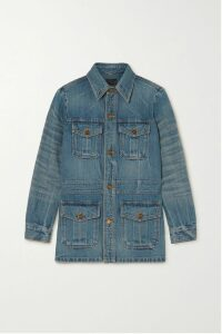 Alexander McQueen - Double-breasted Pleated Leather Coat - Red