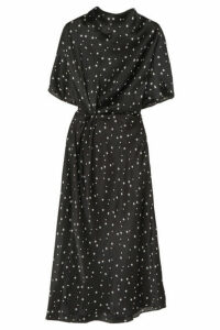Stine Goya - + Net Sustain Rhode Printed Organic Silk-satin Midi Dress - Black