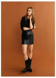 Zip miniskirt