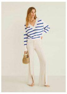 Striped cotton sweater