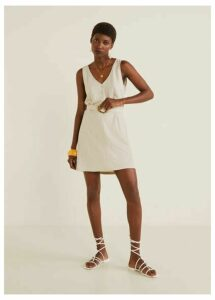Detachable belt dress