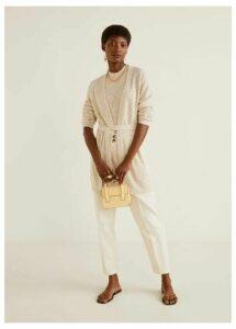 Cotton-blend cardigan