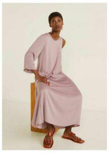 Asymmetrical satin dress