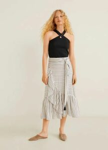 Ruffled striped skirt