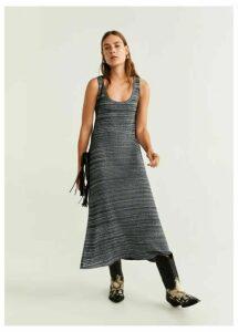 Flecked long dress