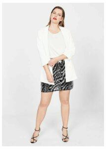 Zebra sequined skirt