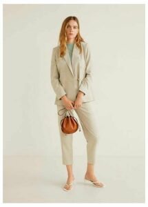 Modal-blend suit blazer
