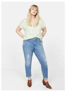 Check-pattern blouse