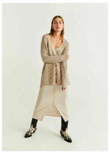 Open knit cardigan