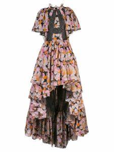 Giambattista Valli high low rose dress - Multicolour