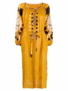 Vita Kin embroidered midi dress - Yellow
