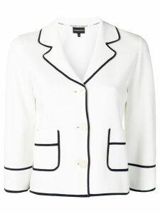 Emporio Armani contrast trim blazer - White