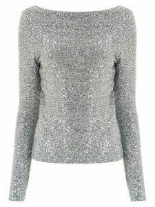 Gloria Coelho appliqué shirt - Grey
