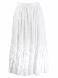 Tory Burch tiered A-line skirt - White