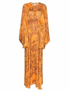 Johanna Ortiz Perpetual Existance floral maxi dress - Orange