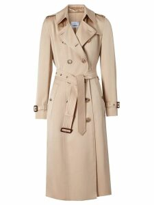 Burberry silk double-breasted trench coat - PINK