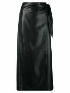 Nanushka side knot midi skirt - Black