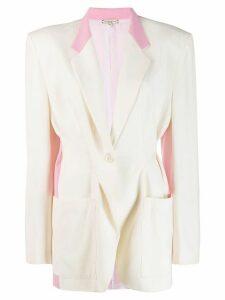Natasha Zinko oversized colour block blazer - White