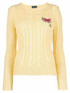 Polo Ralph Lauren logo knitted sweater - Yellow
