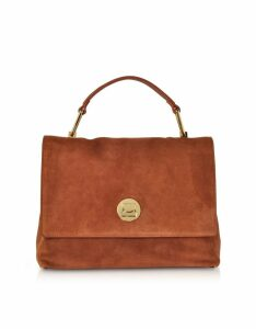 Coccinelle Designer Handbags, Medium Liya Suede Shoulder Bag