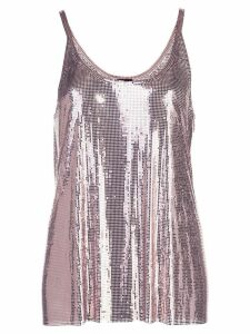 Paco Rabanne gathered chainmail dress - Pink