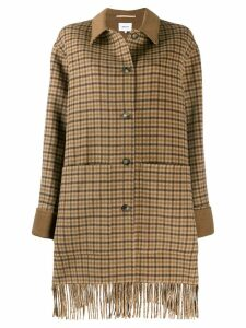 Nanushka plaid coat - Brown
