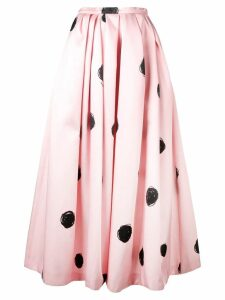 Christopher Kane dot print satin skirt - Pink