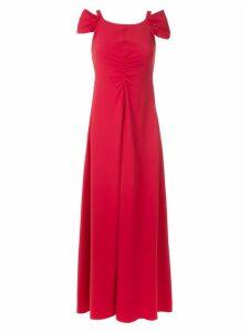 Emporio Armani draped front maxi dress - Red
